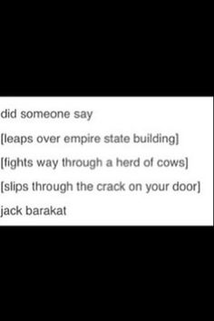 Did someone say...................................................... Jack Barakat?