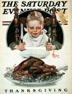 Thanksgiving cover for the Saturday Evening Post, by J C Leyendecker c.1919