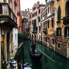 #Gondola ride, this is the best way to explore the city's winding streets and canals on your own. #Venice #Italy #Travel