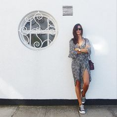 Blogger Hedvig of The Northern Light wearing Ganni Kimono-dress from 2014 A/W collection
