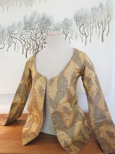 a fine golden silk brocade jacket with metallic gold floral lattice design. Part of a collection from a museum deaccession | eBay