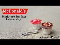 McDonald's inspired Miniature Sundaes - Polymer Clay Tutorial - YouTube