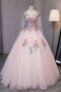 Blue tulle V neck long customize prom dress, long lace evening dress - Banquet Dress Ideas - Kleider Lace Evening Dresses, Ball Dresses, Ball Gowns, Prom Dresses, Long Dresses, Sexy Dresses, Formal Dresses, Dress Prom, Wedding Dresses