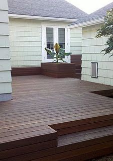 Inset Step In Deck Home Outdoor Living Pinterest