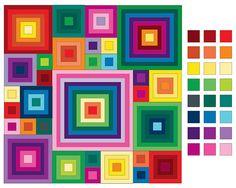 Ravelry: Project Gallery for Babette Blanket pattern by Kathy Merrick Form Crochet, Crochet Chart, Crochet Squares, Crochet Blanket Patterns, Quilt Patterns, Knit Crochet, Crochet Geek, Crochet Potholders, Log Cabin Quilt Pattern