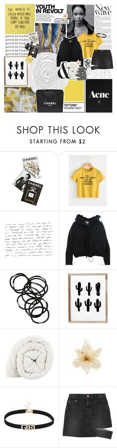 """no jodas nosotras"" by h-eartstrings ❤ liked on Polyvore featuring Assouline Publishing, Karl Lagerfeld, Anja, Acne Studios, Monki, Chanel, Clips, Steve J & Yoni P, modern and marias5k"