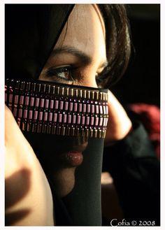 Beautiful, niqab