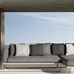 Gandia Blasco Flat Modern Outdoor Sofa 1 by Mario Ruiz