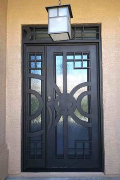 An one-of-a-kind custom iron door created by Iron Doors Arizona. An entryway like no other.