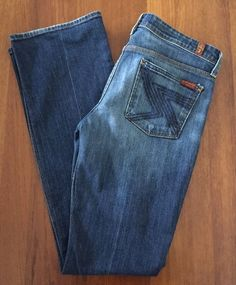 7 For All Mankind 7FAM Flynt Bootcut Jeans 29 NYD New York Dark U170N080U…