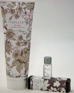LoLLIA IN LOVE No. 9 Perfumed Shower Gel with Petite Treat Handcreme & Little Luxe Eau de Parfum by LoLLIA. $36.49. IN LOVE Perfumed Shower Gel with Petite Handcreme & Little Luxe Eau de parfum by LoLLIA  Each of the items is designed with the Iconic LoLLIA patterns that float across sophisticated satin-touch tubes complete with ever-so-delicate metallic detailing to add a touch of elegance to any shower.  The IN LOVE Fragrance has the scent of  Classic petals...