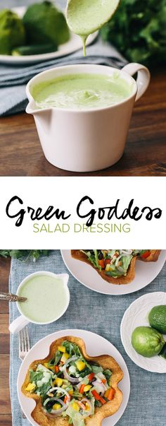 Healthy Green Goddess Salad Dressing | A Couple Cooks