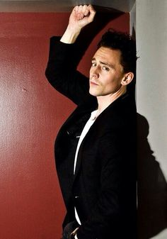 "Tom Hiddleston ""Oh, hi there. I was just waiting here for you..."""