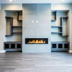 Discover the hallmark of a truly well-appointed home with the top 60 best concrete fireplace designs. Explore luxury and minimalistic interior ideas. Fireplace Tile Surround, Concrete Fireplace, Home Fireplace, Fireplace Remodel, Fireplace Inserts, Fireplace Surrounds, Fireplace Design, Fireplace Tiles, Linear Fireplace