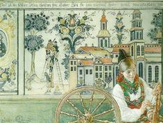 Complete Works Of Carl Larsson | Carl Larsson lisbeth och brita