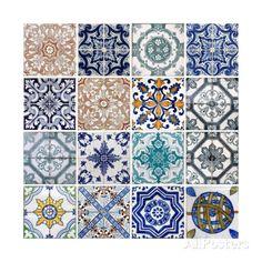 Lisbon Tiles Art par boggy sur AllPosters.fr