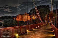 E em meio à natureza, Piracicaba! Ponte Pênsil, Engenho Velho e Rio Piracicaba.