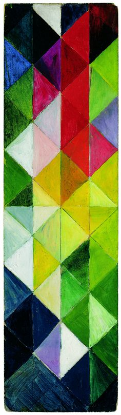 origin of the magic triangles? August Macke