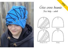 Criss cross beanie PDF pattern