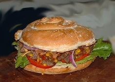 A recipe for texas blue whistler burger made with gro Camping Food Checklist, Camping Meals, Easy Meals For Kids, Kids Meals, Bacon Hot Dogs, 5 Star Recipe, Breakfast Recipes, Dinner Recipes, Burger Recipes
