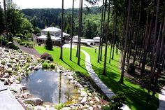 Relax v horách Water Features, Decoration, Pond, Paths, Golf Courses, Relax, Landscape Architecture, Gardens, Fresh