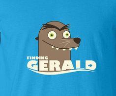 Finding Nemo Dory Francis Gerald Get off our rock Sea lion creepy parody tee t-shirt