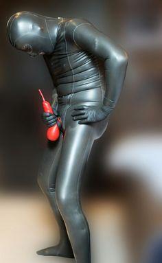 Suit bondage Thick latex