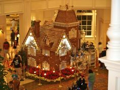 gingerbread house Disney in the lobby of the Grand Floridian Resort