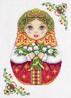 Набор для вышивания Panna НМ-1839 Русская матрешка. Весна