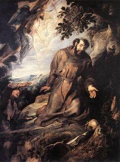 San Francisco de Asís recibiendo los estigmas de 1635 - Peter Paul Rubens