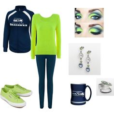 Gameday style for the ladies @seahawks