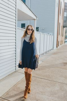 slip dress winter outfit