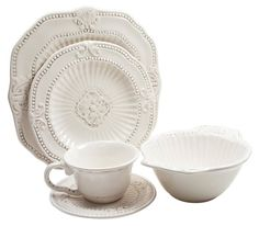 One Kings Lane - Tableware with a New Feel - 20-Pc Baroque Dinnerware Set