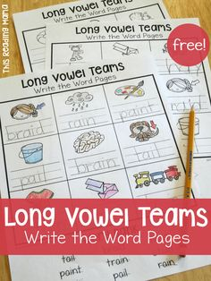 FREE Long Vowel Teams Write the Word Pages - This Reading Mama