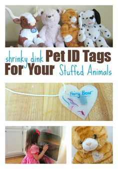 { This is adorable! } Make ID Tags For Your Stuffed Animals with Shrinky Dinks.