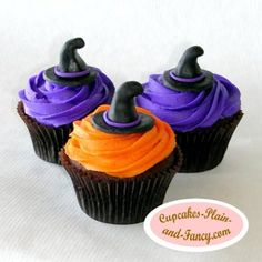 Witch Hat Cupcake Topper Tutorial
