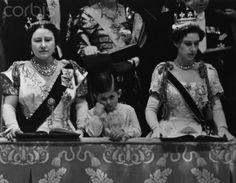 juliapgelardi:  60th Anniversary of the Coronation of Queen Elizabeth II-Queen Elizabeth the Queen Mother, Prince Charles, Princess Margaret