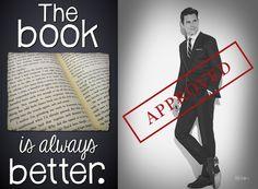 When I read the book, only Matt Bomer come to my mind. Matt Bomer is my Christian Grey ♡