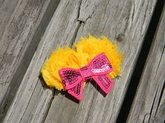 yellow shabby chic headpiece by osewcutedesigns on Etsy, $5.50
