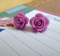 Beautiful Bloom Flower Post Earrings Light by Stephsjewels4ella, $5.00