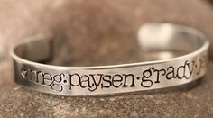 Hand-Stamped Cuff Bracelets - 2 sizes available at VeryJane.com