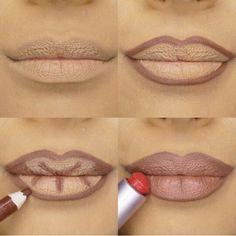 Apply Kylie Jenner Lipstick lip pencil- Makeup-Tricks - Make Up Kylie Jenner Lipstick, Lip Tutorial, Lipstick Tutorial, Contouring Tutorial, Step By Step Contouring, Lip Makeup Tutorial, Lip Contouring, Concealer, How To Blend Contouring
