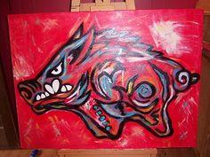 30x40 Razorback on canvas...I need this...