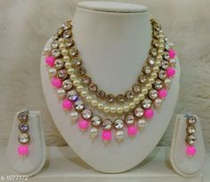 Jewellery Set Women's Copper Gold Plated Jewellery Set  *Material* Copper  *Size* Free Size  *Description* It Has 1 Piece Of Necklace & 1 Pair Of Earring  *Work* Stones & Pearl Work  *Sizes Available* Free Size *   Catalog Rating: ★4.5 (172)  Catalog Name: Free Gift Ebiya Elegant Copper Necklace Sets CatalogID_131974 C77-SC1093 Code: 303-1077172-