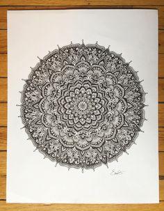 Handrawn mandala drawing by @samschroederart   INSTAGRAM: samschroeds