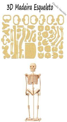 Esqueleto humano em MDF. #Perso