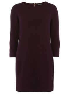 Berry Sparkle Zip Back Tunic - Dorothy Perkins