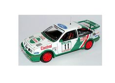 Trofeu 1:43 Ford Sierra Diecast Model Car RRAL21 This Ford Sierra Cosworth (Joaquim Santos - Rally Portugal 1989) Diecast Model Car is White and Green and has working wheels and also comes in a display case. It is made by Trofeu and is 1:43 scale (approx. 10cm / 3.9in long). #Trofeu #ModelCar #Ford #MiniModelRaceCars