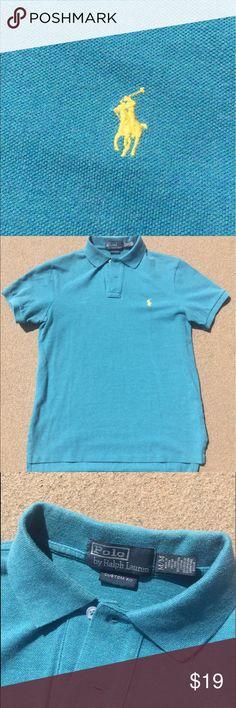 Ralph Lauren Blue Polo Logo Breathable Green Short Sleeved