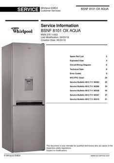 refrigerator freezer whirlpool repair manuals